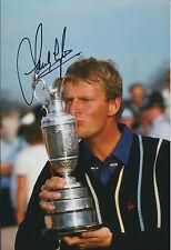 Sandy LYLE SIGNED AUTOGRAPH 12x8 Photo AFTAL COA Golf 1985 Open Champion