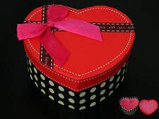 High Quality Red Dotted with Pink Bow Jewellery / Candy /Gifts Big Box BX14