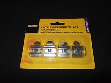 4 Sliding Window Home Security Locks Aluminum Twist Screw Track Guard 4 Pieces
