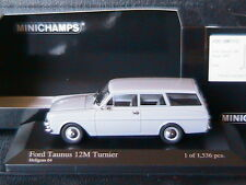 FORD TAUNUS 12M TURNIER 1962 HELLGRAU 64 MINICHAMPS 400086110 1/43 GREY BREAK