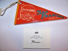 Rosanna Ceramic Souvenir Travel Pennant Ornament San Francisco, Calif.