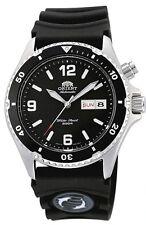 New Orient FEM65004BW Men's Black Mako Rubber 200M Automatic Diver Watch  BOX
