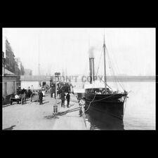Photo B.000302 SS FRANCOIS 1ER COMPAGNIE DESCHAMPS LE HAVRE PADDLE STEAMER