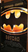 Batman Movie Poster - Tim Burton, Michael Keaton, Jack Nicholson (C-8) 1989