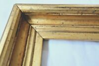 ANTIQUE FITS 10X13 LEMON GOLD GILT PICTURE FRAME WOOD FINE ART COUNTRY PRIMITIVE