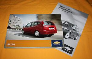Chevrolet Rezzo 2008 Prospekt Brochure Depliant Prospect Catalog Folder Broschyr