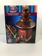 Nostalgia 50's Style Chocolate Fondue Fountain NIB