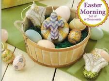 Easter Morning Bead & Sequin Ornament KIT Makes 6 Lily Eggs Cross Herrschners