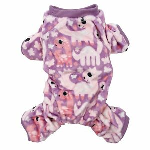 Fleece Dog Pajamas Jumpsuit Warm Soft Cute Pet Clothes Small Medium Pet XXS - L
