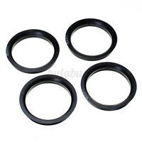 4pcs Bagues de centrage 66.6-57.1mm Pneu Jante Roue Plastique Noir pour Aud