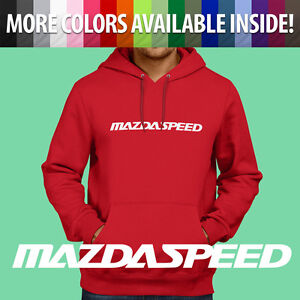 Pullover Hoodie Jacket Hooded Sweater Mazda Motor Mazdaspeed 3 6 Protege RX7 RX8