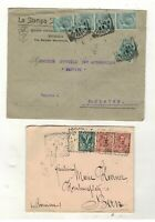ITALY - ST.BLAISE SWITZERLAND 1902 & 1909  covers/envelopes x 2