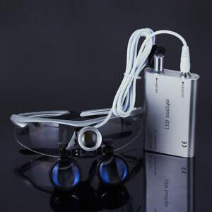 Uso Dental Lupa Portátil Binocular Lupas 3.5X y Lámpara Quirúrgicos LED Luz de C
