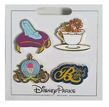 Disney Parks Cinderella 4 Pin Booster Set Gus Jaq Slipper New