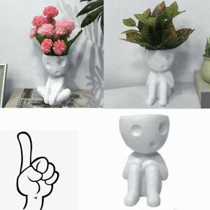 Humanoider Blumentopf Sukkulenten Topf Mini Vase Bürodekor Statue Blumentopf