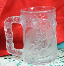 McDonalds Batman Forever ROBIN Collector Glass Mug 1995 DC Comics Vintage Clear