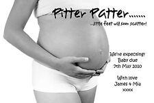 8 Personalizada Bebé Niño Niña estamos Embarazada Embarazo anuncio Tarjetas Nº 1