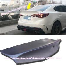 For Mazda 3 AXELA 14-17 Lip Spoiler Rear Trunk Tail Wing Factory Style Prime