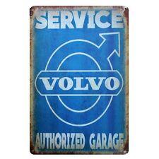 VOLVO SERVICE Genuine Parts Metal Tin Sign Garage Street Rod Man Cave Pub Bar