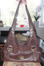 Rare Mulberry Brown 100% Leather Hand/Shoulder Bag - MAGNIFICENT !!