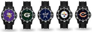 Men's Black Watch Model Three - Pick Your Team - NFL Football - Free Shipping!