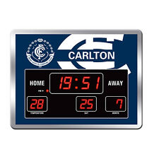 123652.1 CARLTON BLUES DESIGN 1 AFL SCOREBOARD DIGITAL LED CLOCK TIME DATE TEMP