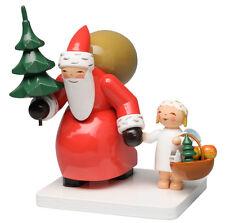 Wendt & Kühn Weihnachtsmann mit Baum und Engel 5301/7 Neuheit 2016 Erzgebirge