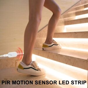 LED Strip Light Lamp 5V PIR Motion Sensor Closet Stairs Kitchen Cabinet Light