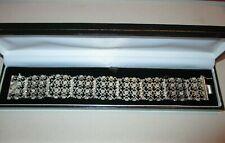 Magnifique ancien bracelet ciselé vintage– argent 925 – 19 cm x 2cm