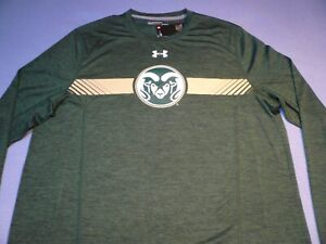 Under Armour Colorado State Rams On Field BRAND NEW shirt CSU UA Long Sleeve