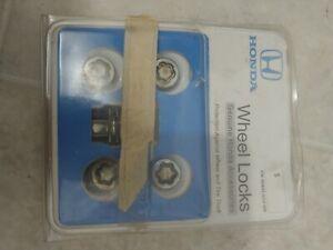 Honda OEM Wheel Lock Set Locking Lug Nuts set of 4 (Acura Too) 19mm