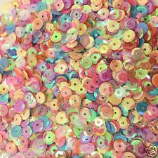 5000pcs 50g Mixed AB 6-7mm Round Loose PVC Sew-On Cup Sequins Sewing Paillettes