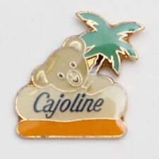 Vintage 'Cajoline' Bear & Palm Tree Lapel Pin Badge