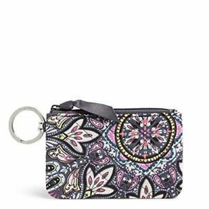 Vera Bradley Women's Signature Cotton Zip Wallet ID Case Bonbon Medallion One...