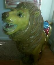 Wood carousel carved lion for local pick up only large piece pay on pick up