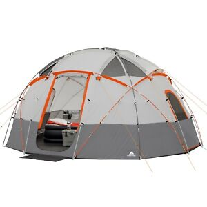 Ozark Trail 12-Person Base Camp Tent with Built-In LED Lights - New