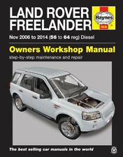 Land Rover Freelander 2 2.2 Turbo Diesel 2006-14 Haynes Workshop Manual