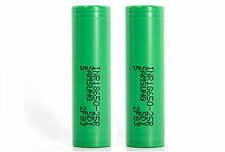 2 x Genuine Samsung INR 18650 25R Battery 2500mAh IMR 3.7V Flat Top Rechargeable