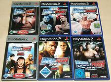 6 PS2 SPIELE SAMMLUNG - SMACKDOWN VS RAW 2006 2007 2008 2009 2010 WRESTLING WWF