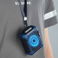 FP- Summer Camping USB Cooling Fan Hanging Clip on Waist Belt Hands-free Air Coo