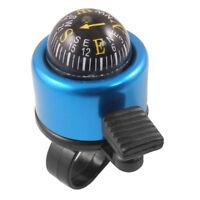 Bussola campanello manubrio nero e blu per bici bicicletta   T5F1 N6B2