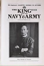 1903 Imprimé King Christian de Danemark