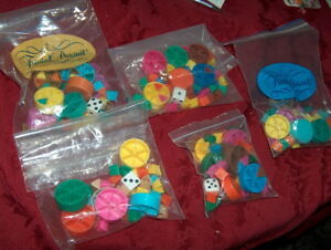LOT OF 5 SETS Trivial Pursuit Replacement Tokens Scoring Wedges  Pieces Pie