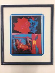 Nicola Simbari The Rose print custom framed
