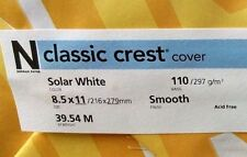 Neenah Classic Crest Solar White Card Stock 110 lb cover / 50 pack