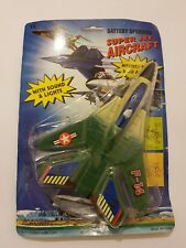 Vintage Super Jet Aircraft F-14 Baterry Operated Nuevo/New