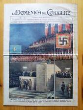 La Domenica del Corriere 10 ottobre 1937 Mussolini Berlino - Gen.Russo - Cina