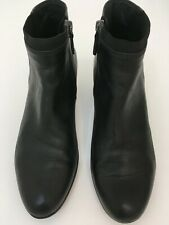 Geox Ankle Boots, Annya, Leather, Black, Size 39.5