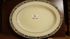 """Lenox China Jewels Sapphire Pattern 13"""" Oval Serving Platter  NEW First Quality"""