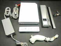 ⭐Nintendo Wii Gaming Console Sensor +Cords Gamecube Compatible White RVL-001(USA